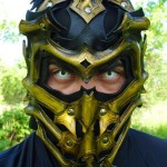 scorpion leather mask