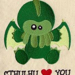 chthulu loves you embroidery