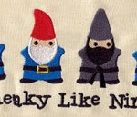 gnome ninja embroidery
