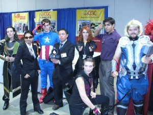 Cosplayers as the Avengers